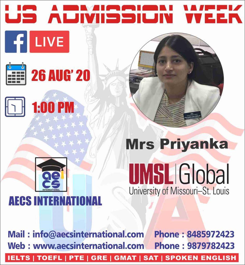 AECS INTERNATIONAL US Admission week 2020